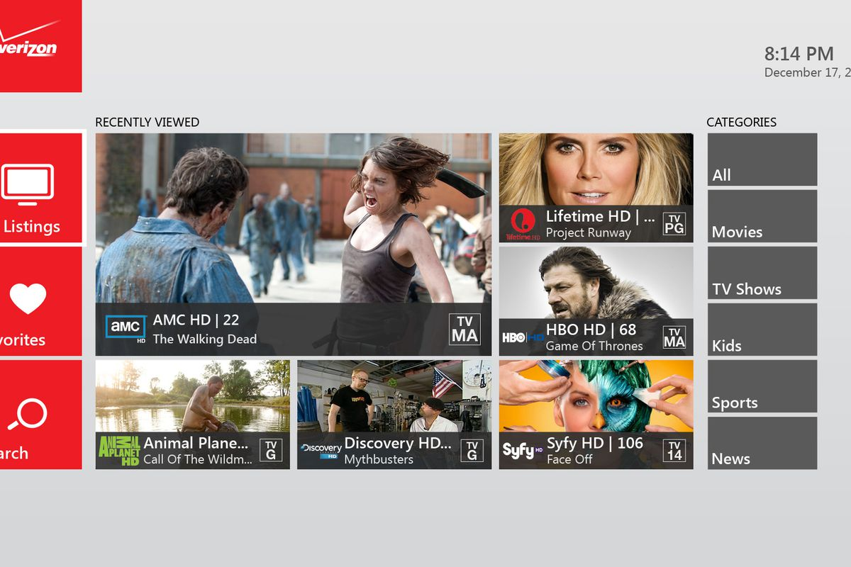 Verizon FiOS TV app brings 74 live channels to Xbox One