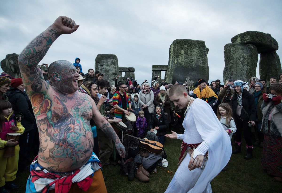 Winter Solstice Is Celebrated At Stonehenge