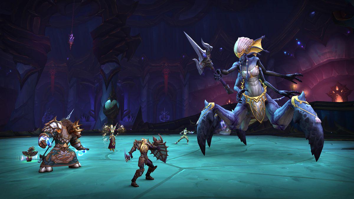 World of Warcraft - Players raid Azshara's Eternal Palace