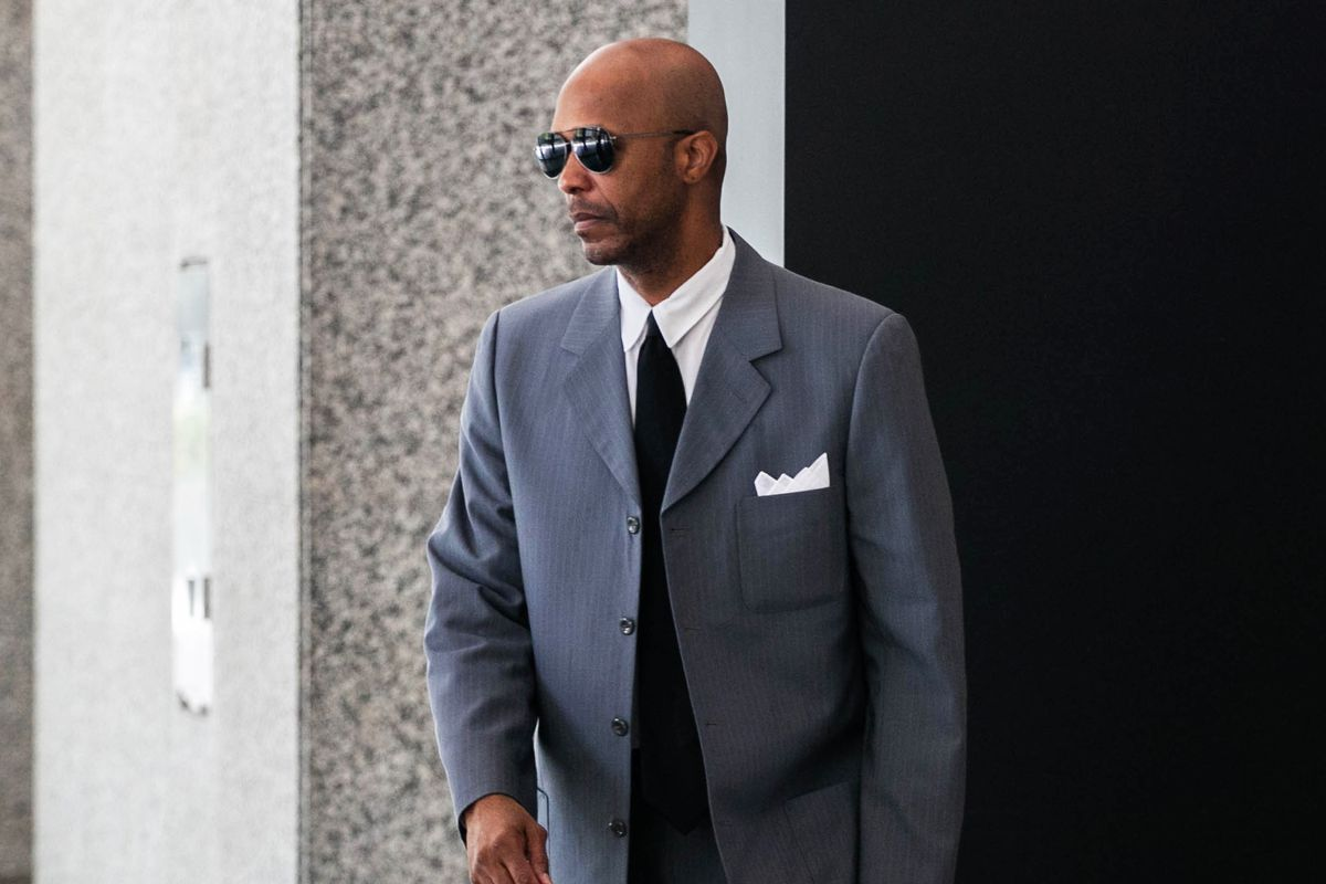"Former R. Kelly employee Milton ""June"" Brown leaves the Dirksen Federal Courthouse on July 19, 2019."