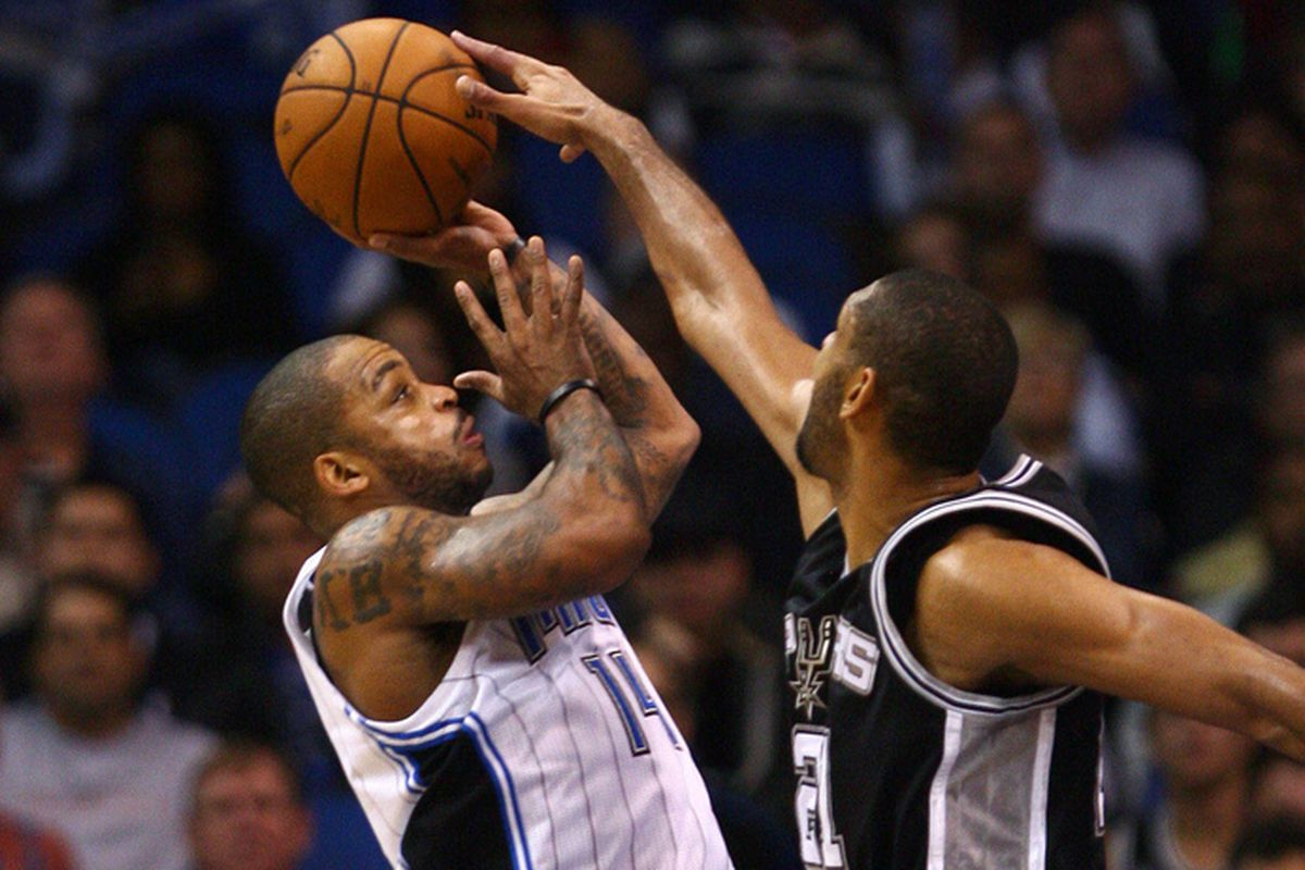 Jameer Nelson and Tim Duncan