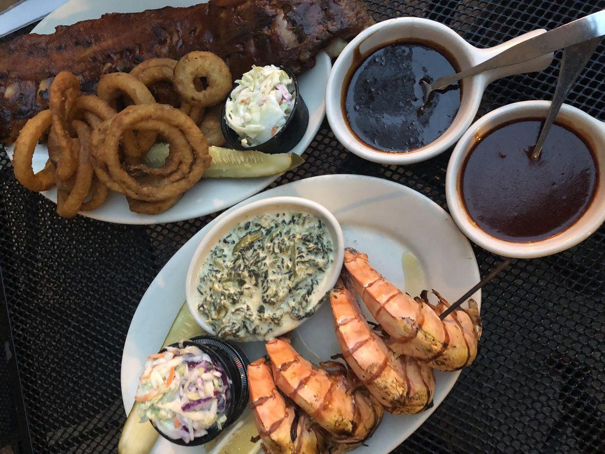 Grilled jumbo shrimp at Twin Anchors in Old Town. | Ji Suk Yi/ Sun-Times