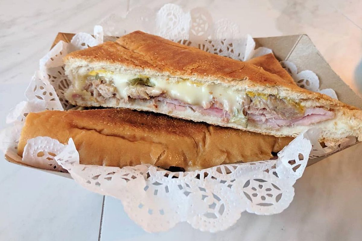 A cuban sandwich from Buena Gente Cuban Bakery in Decatur Georgia