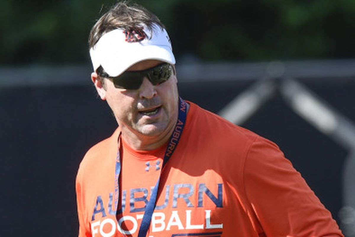 Will Muschamp during the August 3rd practice