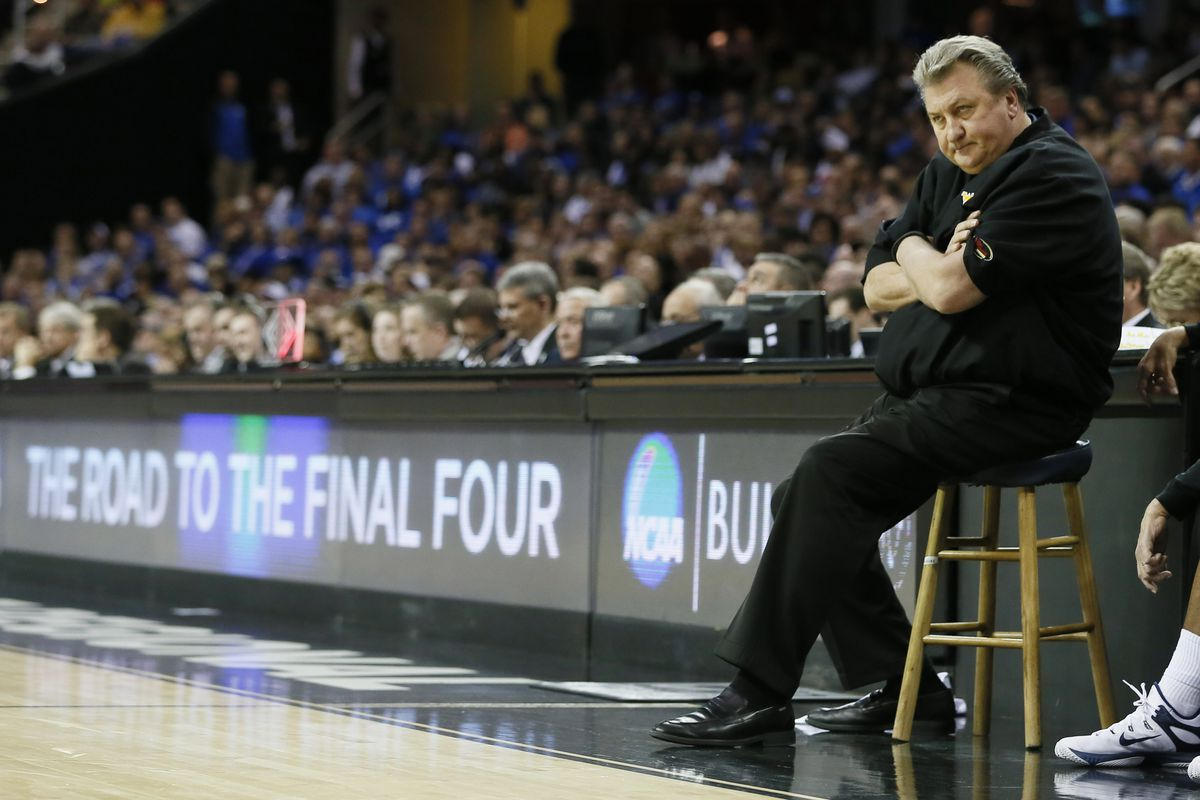 Bob Huggins looks on in disgust as the Mountaineers fall to Kentucky in the NCAA Sweet 16