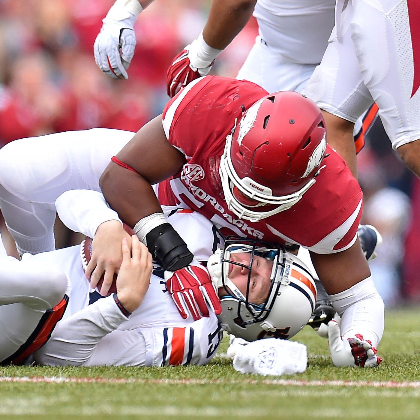 NFL Draft Update: Arkansas' Jeremiah Ledbetter Drafted by Detroit ...