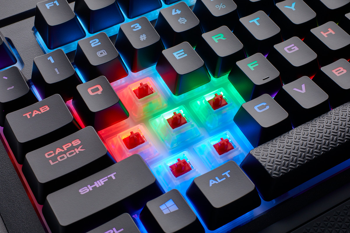 Corsair's snack-proof keyboard gets upgraded with rainbow LEDs - The