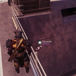 A user joined Tic-toc26, and you can see him stuck inside the Tower walls