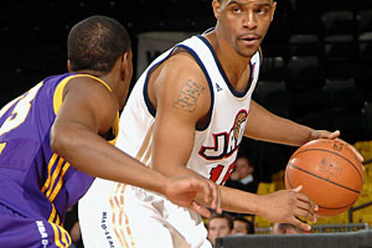 """<a href=""""http://www.nba.com/media/dleague/bakersfield/johnson_300_090220.jpg"""">Trey Johnson</a> is back for the Bakersfield Jam, who also traded Blake Ahearn for Alade Aminu."""