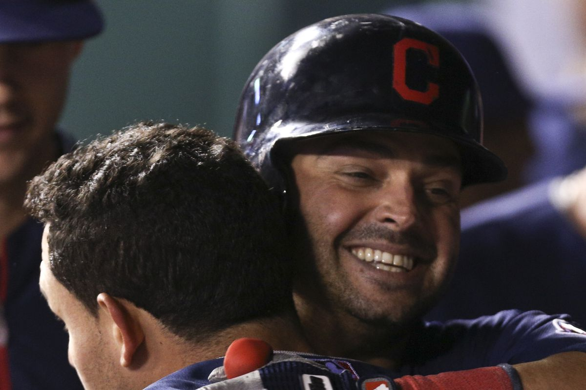Nick Swisher and Asdrubal Cabrera share some quality time.