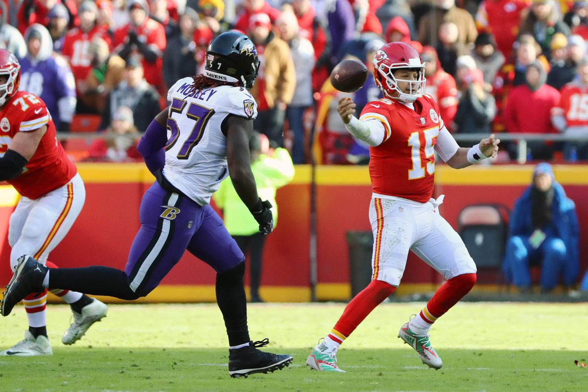 4b16a010 Twitter reacts to Chiefs' Patrick Mahomes' no-look throw vs. Ravens ...
