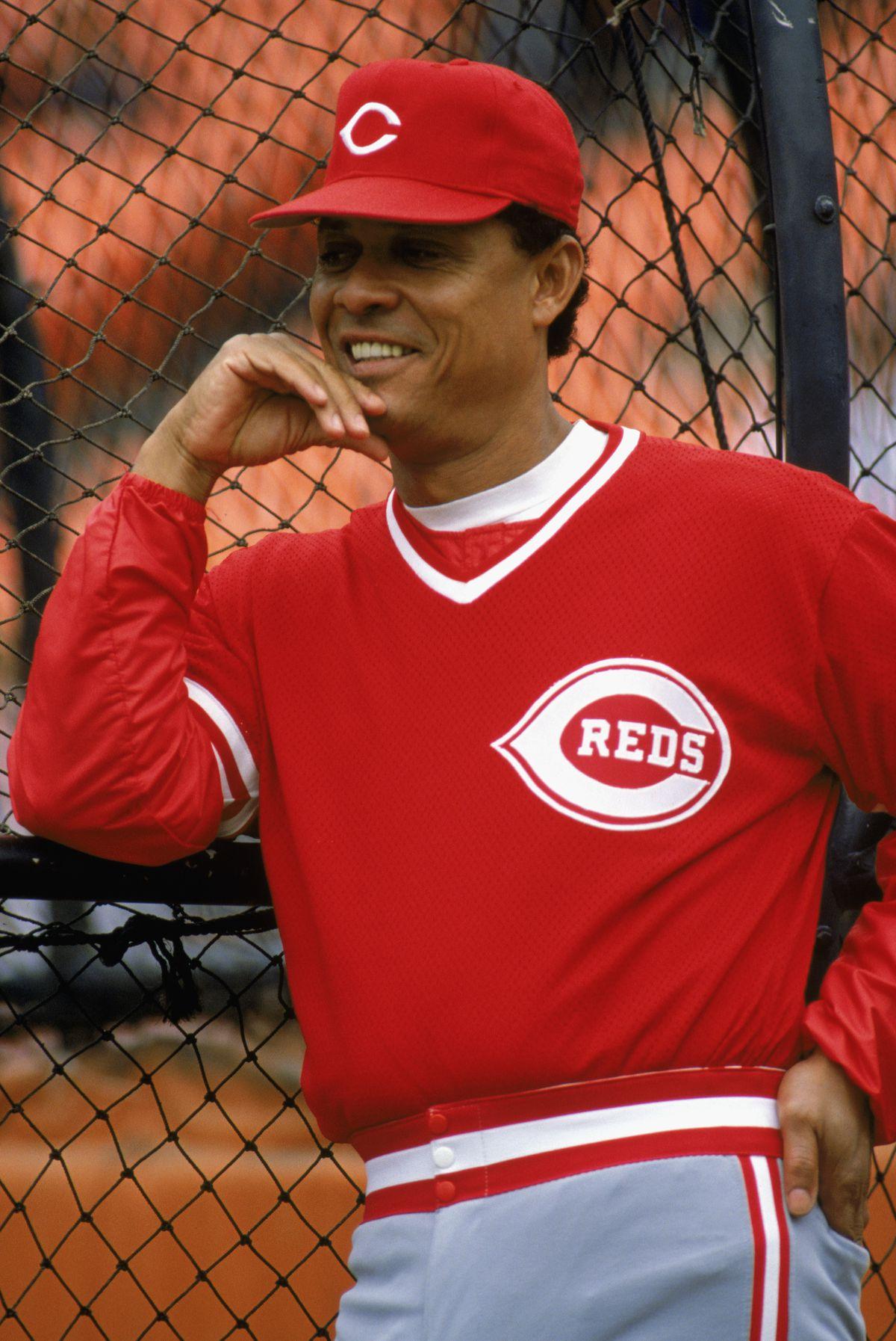 Tony Perez looks on
