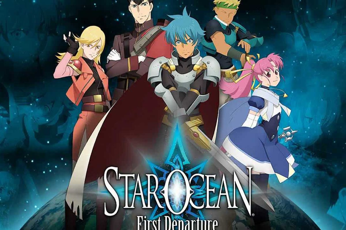 Title screen for 2008's Star Ocean: First Departure on PSP