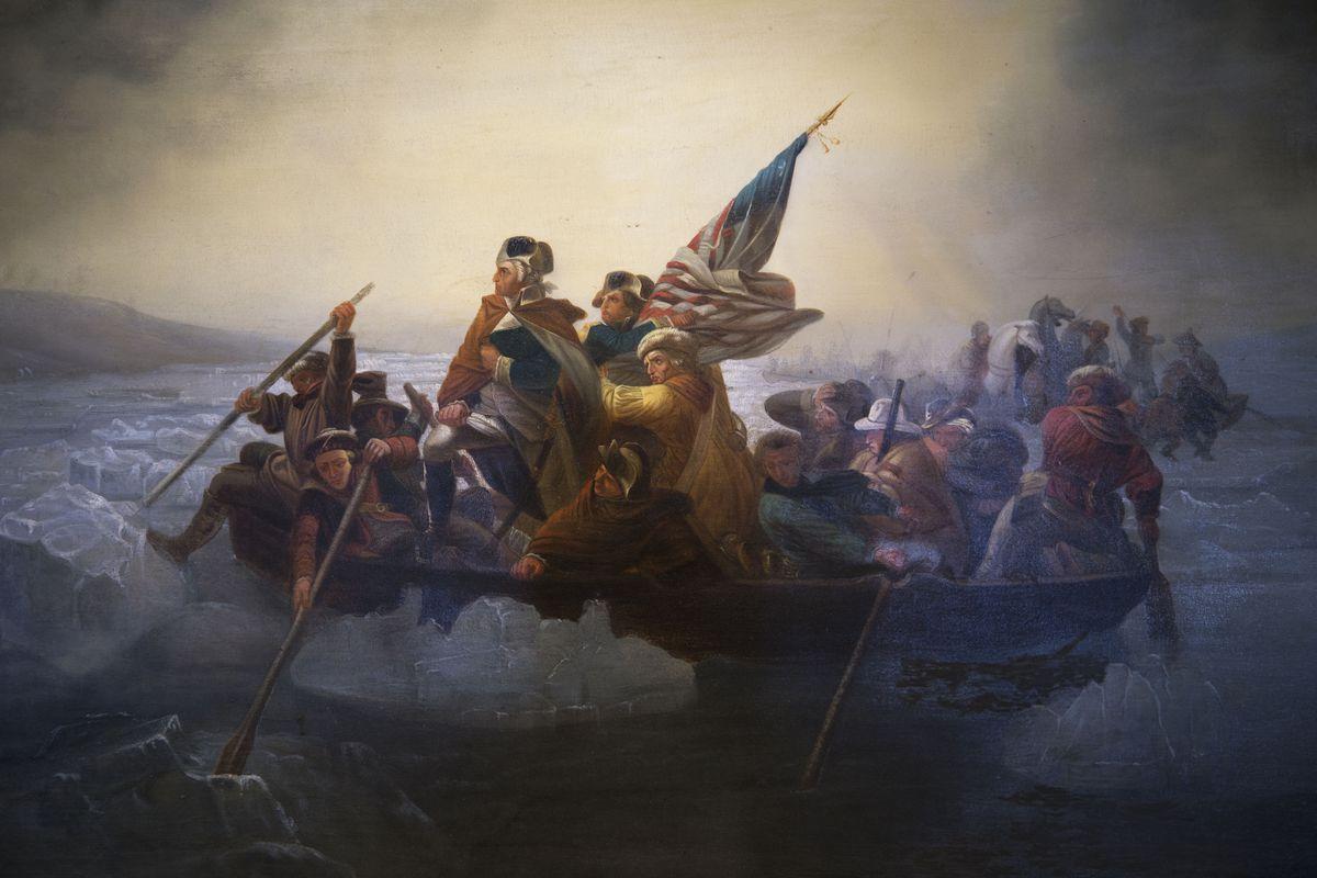 Copy of 'Washington Crossing the Delaware' by Emanuel Leutze, Abbot Hall, Marblehead, Massachusetts