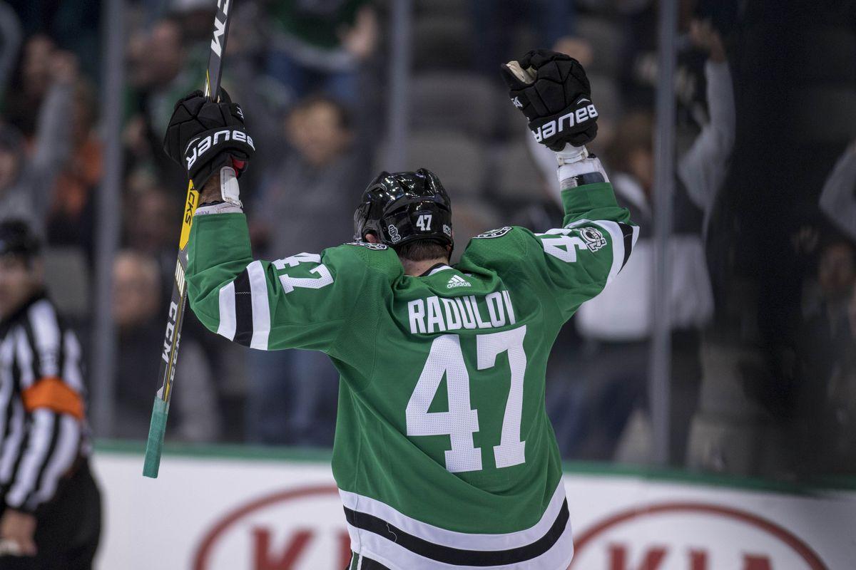 buy popular 2d494 8c7a1 Stars vs. Oilers: Alexander Radulov breaks through after ...