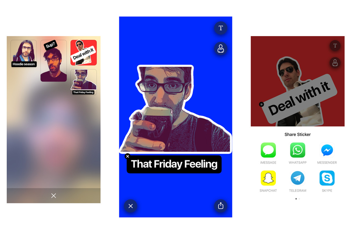Prismas new app turns your selfies into chat stickers