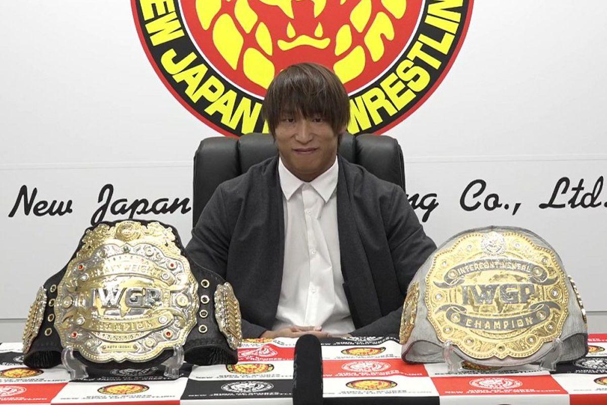 IWGP Heavyweight Champion Kota Ibushi at a press conference