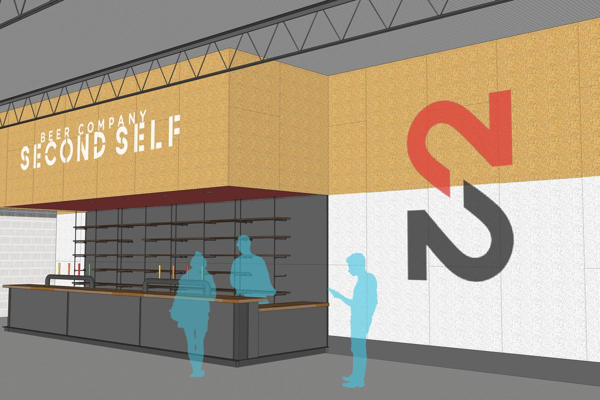 A rendering of Second Self's new tasting room.