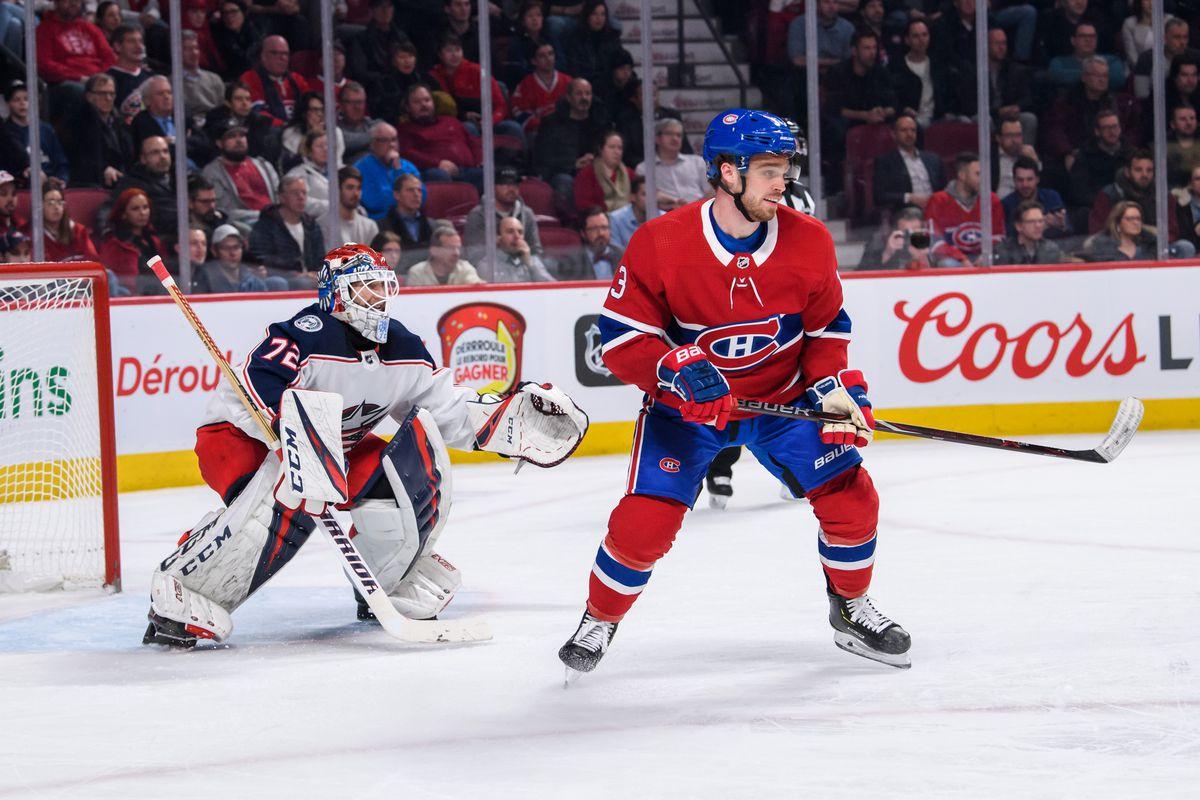 NHL: FEB 19 Blue Jackets at Canadiens