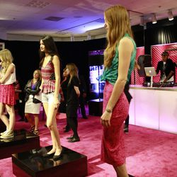 Models doing what they do best in pieces from the Material Girl line.