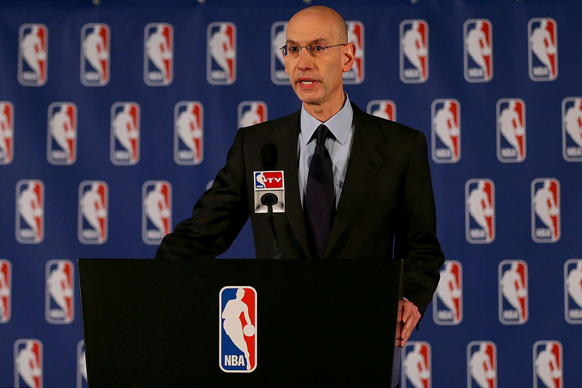 NBA Commissioner Adam Silver holds a press conference in April