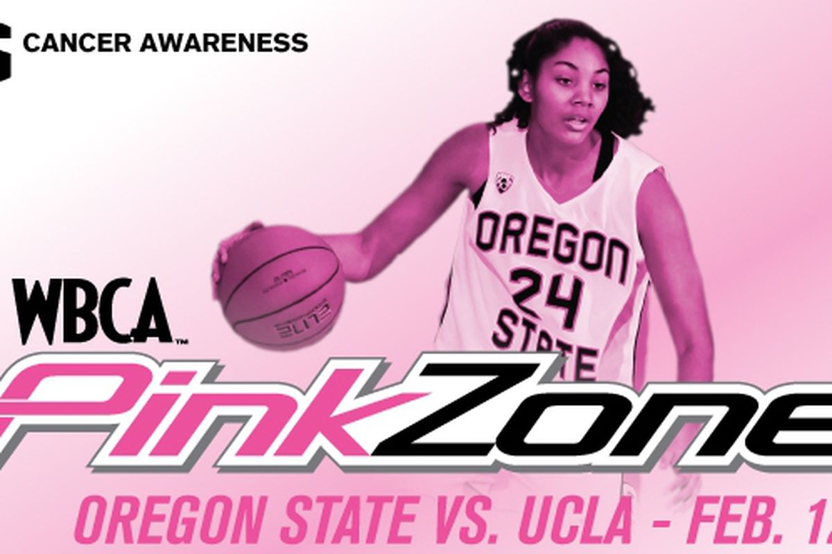 Oregon St. and Alyssa Martin, who hit 6 three pointers in the Beavers' last game, hosts UCLA in the Pink Zone 2011 Game today at Gill Coliseum.