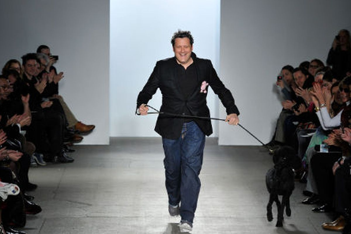 Isaac Mizrahi at the end of his Fall 2011 show. Photo credit: Getty Images