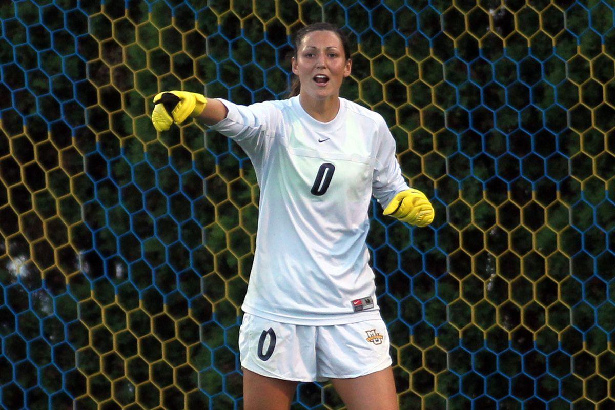 Goalkeeper Amanda Engel is one of three seniors for Marquette in 2015.