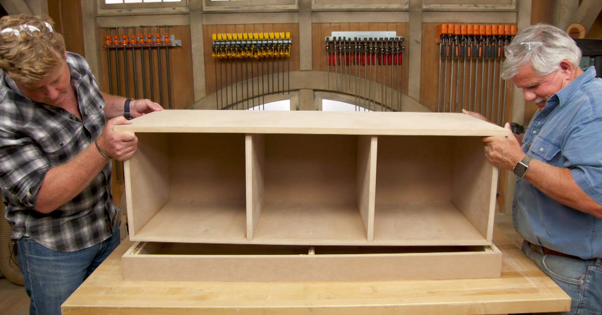 Build It Mdf Storage Bench This Old House