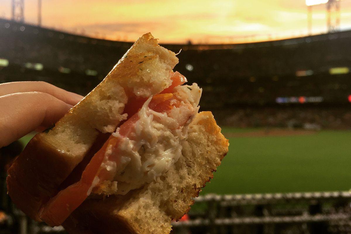 Crab sandwich at AT&T Park
