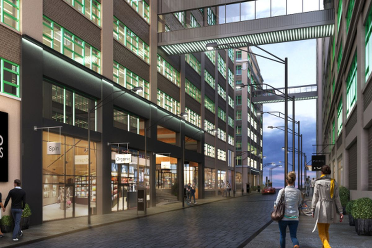 """A rendering of the Dumbo Heights campus by Creative Soldier, via <a href=""""http://commercialobserver.com/2014/06/etsy-takes-brooklyn-2/"""">Commercial Observer</a>"""
