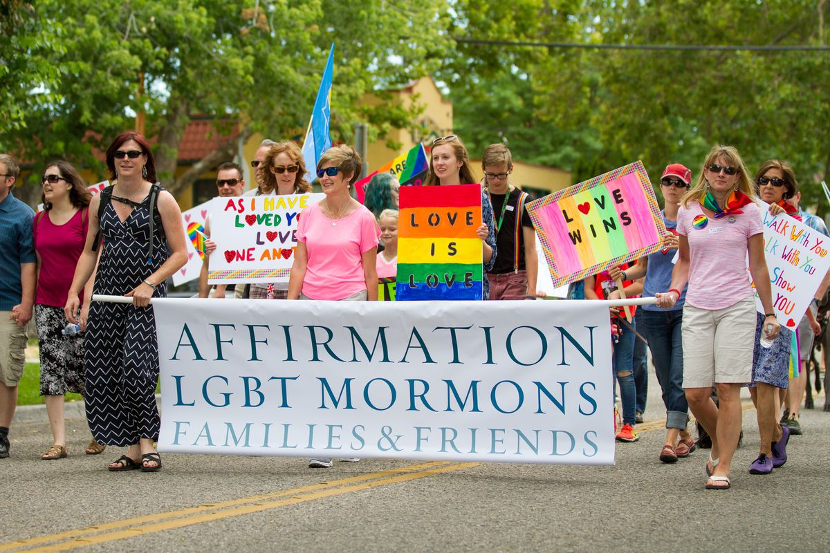 Affirmations, a group for LGBT Mormons, walk at the 2016 Boise PrideFest