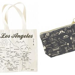 Maptote Los Angeles grocery tote ($17) and pouch ($16)