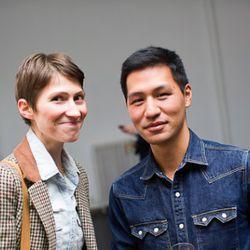 Fashion writer Laura Neilson and friend