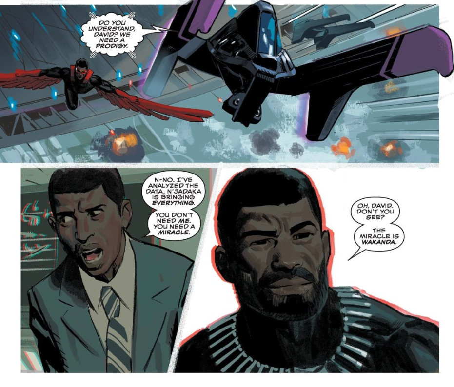 """""""David, don't you see?"""" T'Challa tells the overwhelmed mutant Prodigy, """"The miracle is Wakanda."""""""