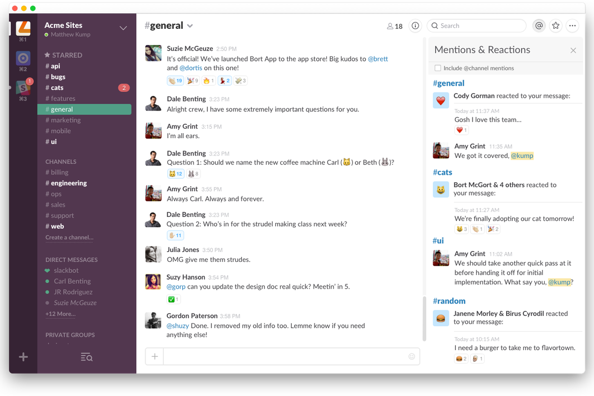 Slack Introduces Reactions, but Where's Comment Threading? - Vox