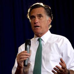 FILE - In this April 11, 2012 file photo, Republican presidential candidate, former Massachusetts Gov. Mitt Romney speaks in Warwick, R.I. The House's top tax writer, House Ways and Means Committee Chairman Rep. Dave Camp, R-Mich.,  said Monday that he will listen to Mitt Romney's proposals for limiting tax breaks for the wealthy, but did not commit himself to adopting plans offered by the likely Republican presidential nominee.