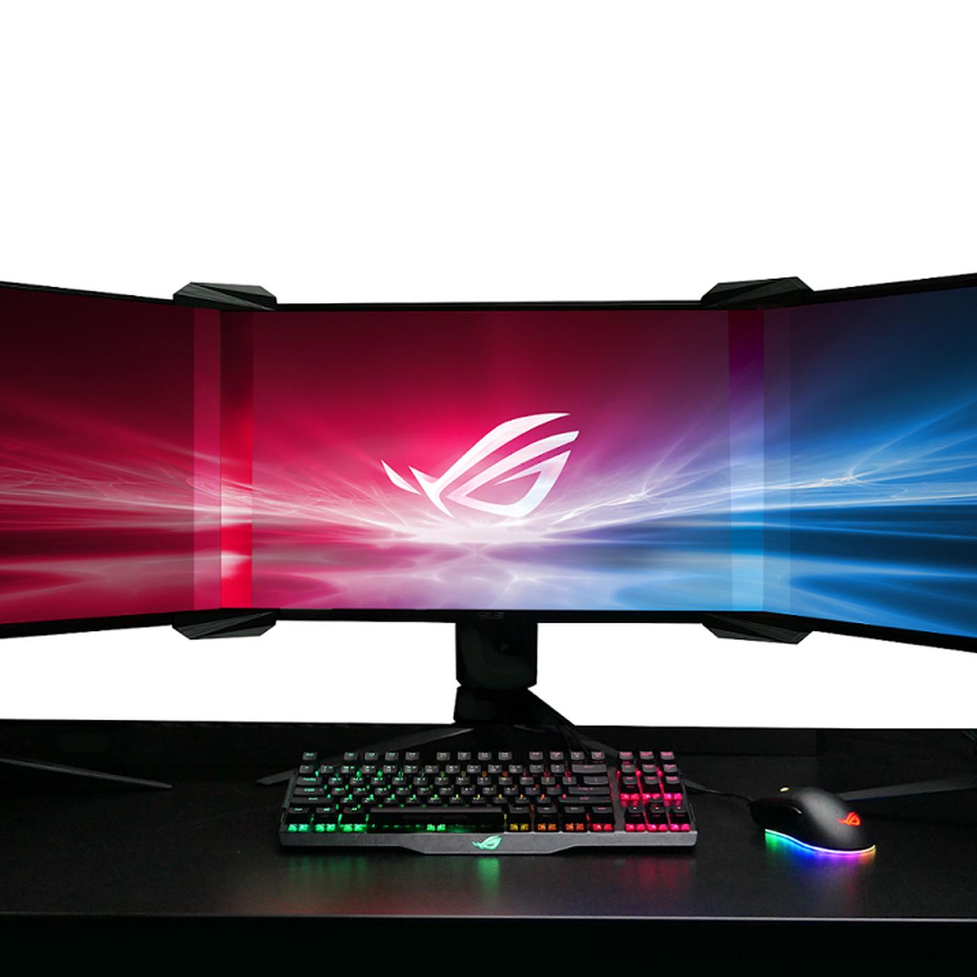 Asus ROG's new Bezel-free Kit uses light refraction to make monitor
