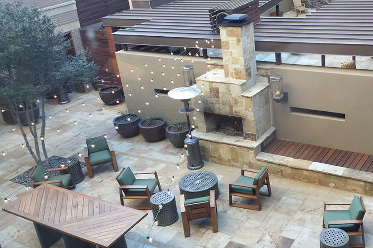 Catch a movie on the patio at Knife.