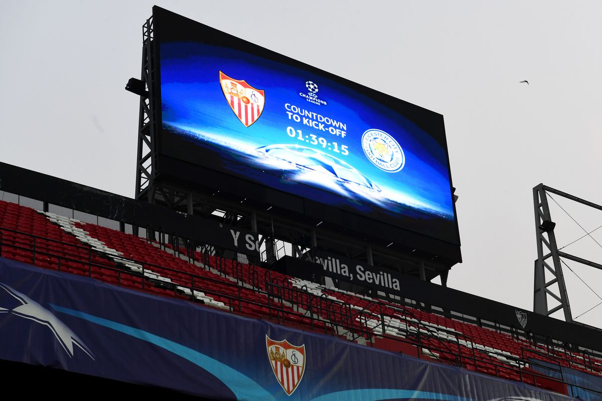 Sevilla FC v Leicester City - UEFA Champions League Round of 16: First Leg