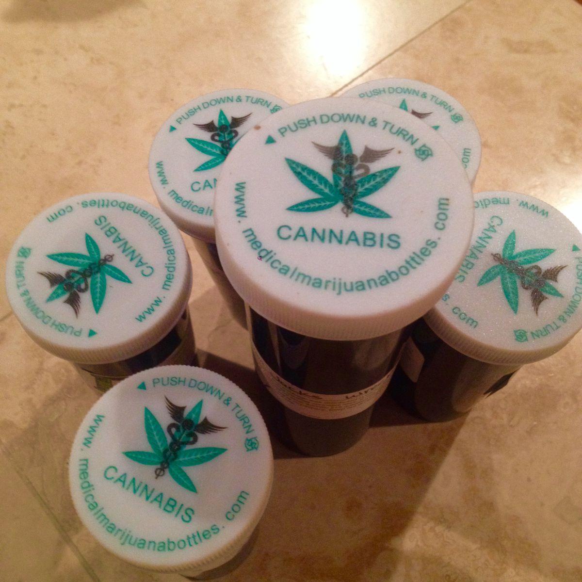Bottles of medical marijuana.