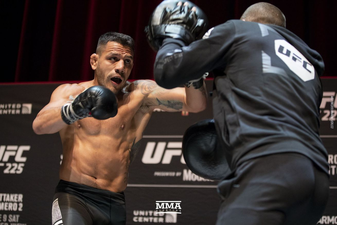 Rafael dos Anjos (pictured) fights Kamaru Usman in the welterweight main event of The Ultimate Fighter 28 Finale on Friday in Las Vegas