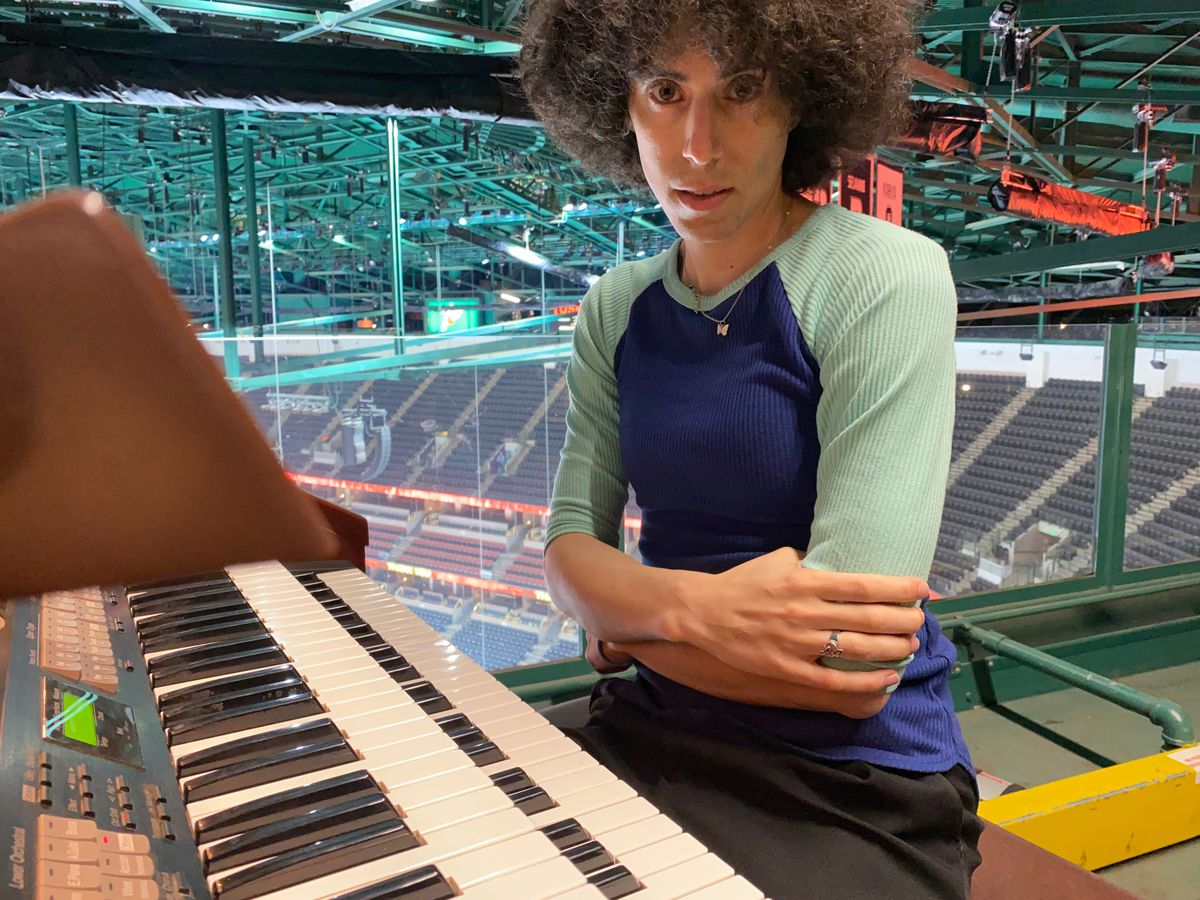 A stint at Dodger Stadium led Lindsay Imber to play the organ.