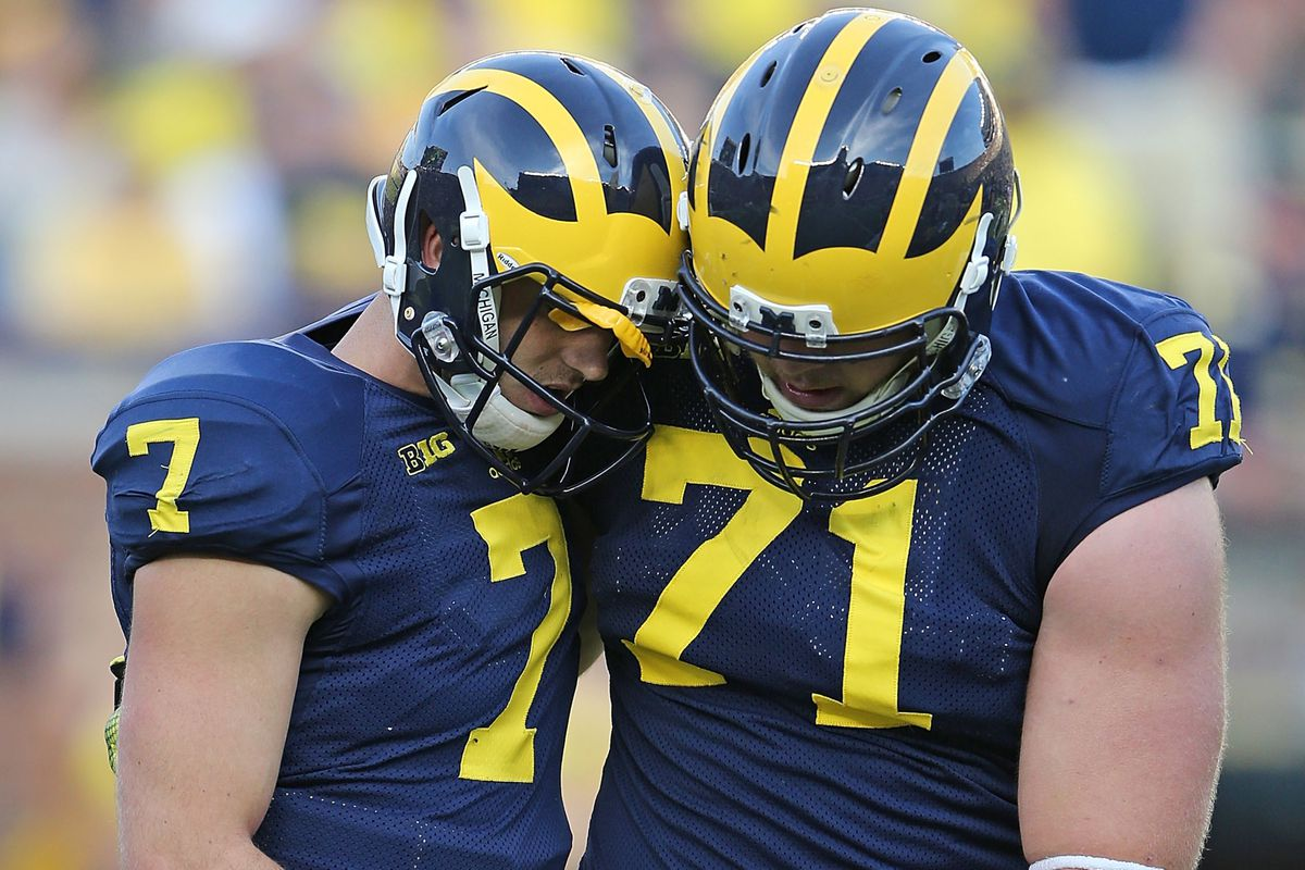 Anybody not named Brady Hoke recognized that Shane Morris shouldn't be in the game anymore.