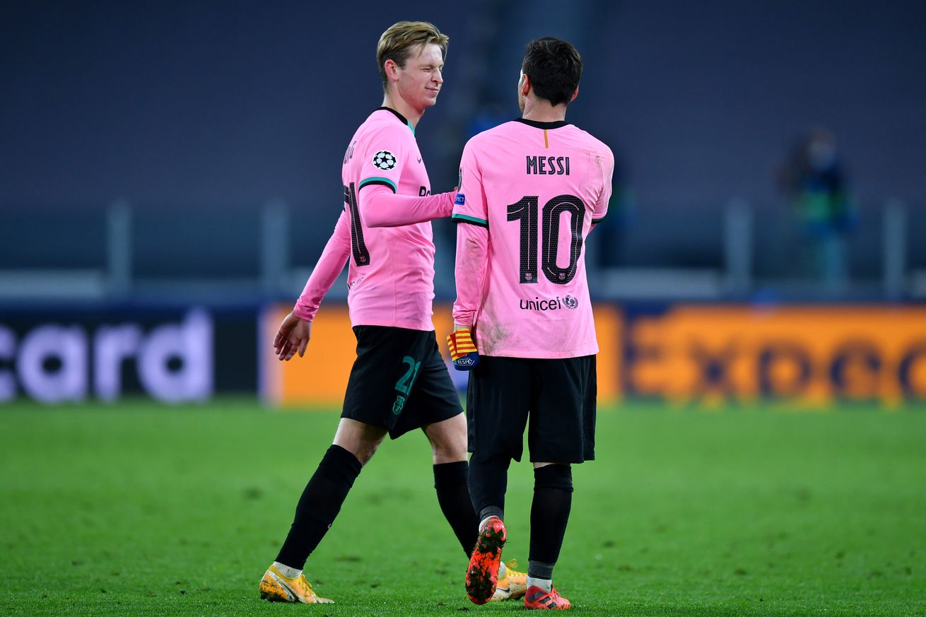 Messi and De Jong left out of squad to face Dynamo Kiev