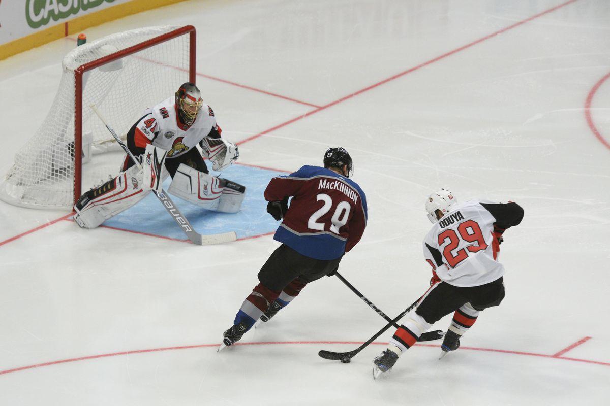 NHL: Ottawa Senators at Colorado Avalanche