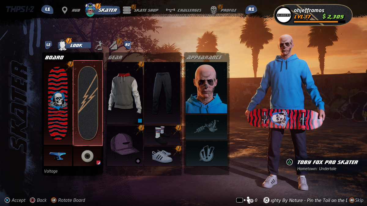 Creating a custom character in Tony Hawk's Pro Skater 1 and 2