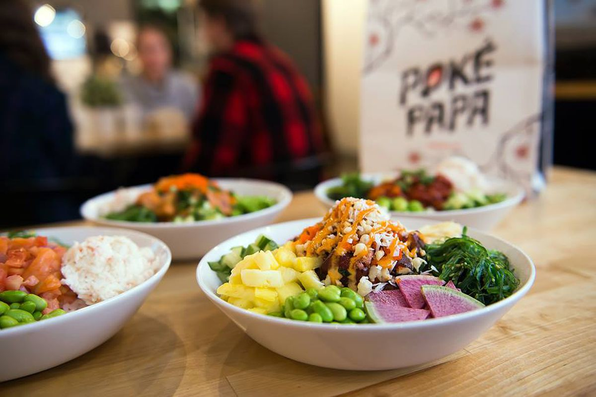 A look at Poké Papa's bowls.