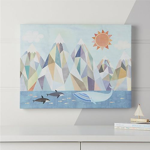 Mountain By The Sea Wall Art 119