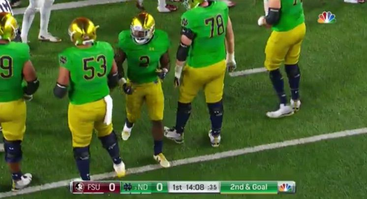 sale retailer 4ff9c aded0 Notre Dame green alternate jerseys have nearly 100-year ...